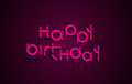 Happy Birthday festive text. Dark background with light pink let Royalty Free Stock Photo