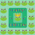 Happy Birthday Frogs Royalty Free Stock Images