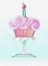 Happy Birthday Frosting Cupcak...