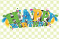 Happy Birthday; Glossy 3D type Royalty Free Stock Photography