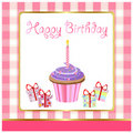 Happy birthday, greeting card Royalty Free Stock Images