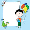 Happy birthday greeting card Stock Images