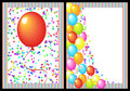 Happy birthday greeting card front and back Royalty Free Stock Images