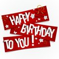 Happy birthday greeting card vector illustration Stock Photos