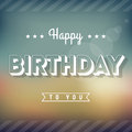 Happy birthday greeting card vintage style typography Royalty Free Stock Photo