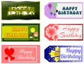 Happy birthday greeting cards illustration representing a set of Stock Photo