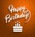 Happy birthday greeting lettering text.