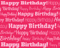 Happy birthday grouped collection of different text Stock Image