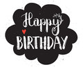 Happy Birthday Hand Drawn Calligraphy Pen Brush Vector