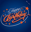 HAPPY BIRTHDAY hand lettering (vector) Royalty Free Stock Photos