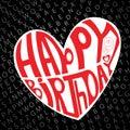 Happy birthday heart Stock Images
