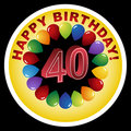 Happy Birthday Icon - Happy 40th Stock Photo
