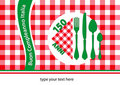 Happy birthday Italy table-cloth Royalty Free Stock Images