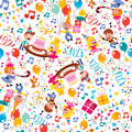Happy Birthday kids party pattern Stock Photography