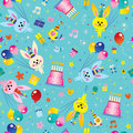 Happy Birthday kids seamless pattern