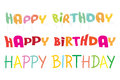 Happy birthday lettering colorful vector illustrat letterings illustration Royalty Free Stock Image