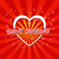 Happy birthday with love card trendy Stock Images