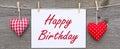 Happy birthday message Royalty Free Stock Photo