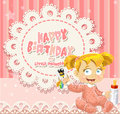 Happy Birthday my little princess - baby girl Royalty Free Stock Photography