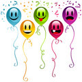 Happy birthday Party balloons Stock Photography