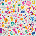 Happy Birthday pattern Stock Photography
