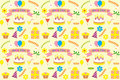 Happy birthday pattern abstract seamless Stock Photo