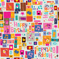 Happy birthday pattern retro style Stock Image