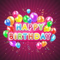 Happy birthday pink background Royalty Free Stock Photo