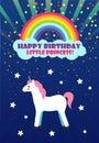 Happy Birthday, Princess Congratulation, Unicorn
