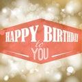 Happy Birthday Retro Vector Il...