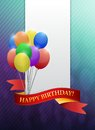 Happy birthday ribbon card illustration design graphic Royalty Free Stock Image