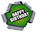 Happy Birthday Rupture Sign Royalty Free Stock Photo