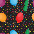 Happy birthday seamless pattern with balloons Stock Image