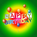 Happy Birthday Shows Cheerful Party And Congratulating