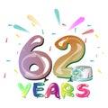 Happy Birthday sixty two year