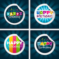 Happy Birthday Stickers Stock Images