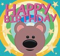 Happy birthday teddy rainbow children s theme a small bear perfect for a party Royalty Free Stock Images
