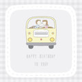 Happy birthday to you card for decoration Stock Photos