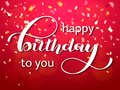 Happy birthday to you lettering. Congratulatory quote for banner or postcard. Vector illustration
