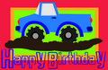 Happy birthday truck Stock Photography