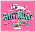 Happy birthday typographic design vector illustration Stock Photos
