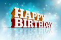 Happy birthday vector d message text elements are layered separately in vector file Stock Images