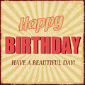 Happy birthday vintage grunge poster vector illustration Royalty Free Stock Photos