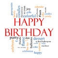 Happy Birthday Word Cloud Concept Royalty Free Stock Image