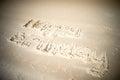 Happy Birthday Written In Sand