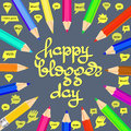 Happy Blogger day vector illustration.