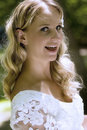 Happy blond bride Royalty Free Stock Photo