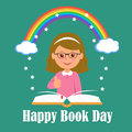 Happy Book Day. The concept of background magic of reading Royalty Free Stock Photo
