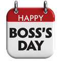 Happy boss s day isolated calendar icon Royalty Free Stock Image