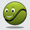 Happy bouncy green cartoon tennis Royalty Free Stock Images
